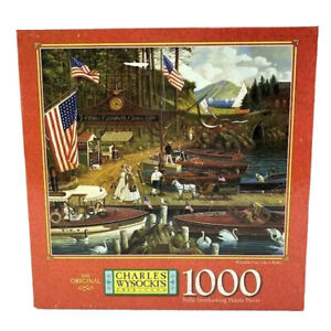 Charles Wysocki Americana MB 1000 pc Puzzle Wooden You Like a Ride VTG 1997 NOS