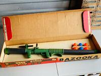 Vintage Hillan #400 Bazooka Army Toy Complete w/ Box Ammo Cutouts