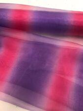 Arco Iris De Organza Voile púrpura rosado material Tela Theatre Childrens