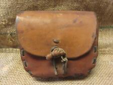 Vintage Leather Hunting Bag Satchel Pouch > Antique Horse Western Saddle 9773