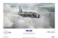English Electric Lightning T.5 LTF RAF binbrook Digital Art Print