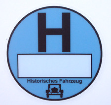 3 St. Umweltplakette Feinstaubplakette Historisches Fahrz., blau, Adhäsionsfolie