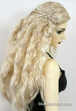 "1/3 bjd 8-9"" head synthetic mohair blonde doll wig Iplehouse dollfie luts JD119"