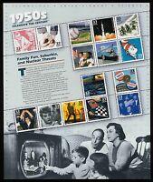 #3187 33c Celebrate the Century: 1950s, Souvenir Sheet, Mint