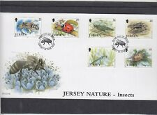 Jersey 2002 Insects Honey Bee Ladybird Dragonfly Cricket First Day Cover FDC