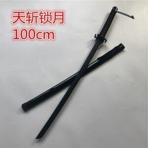 100cm Handmade Ninja Samurai Wooden Sword Scabbard Japanese Katana Battle Ready