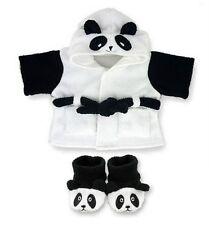 Teddy Bear vestiti adatti a Build a Bear Teddies Abbigliamento PANDA Accappatoio e Pantofole