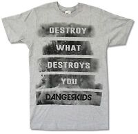 Dangerkids Destroy Grey T Shirt New Official Band Music