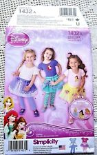 "1432 SEWING PATTERN~UNCUT~BABY/INFANT&GIRLS SZ 6MOS-4~""DISNEY"" TUTU&TOP&LEGGINGS"