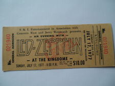 LED ZEPPELIN Original__1977__UNUSED CONCERT TICKET___Seattle__EX-