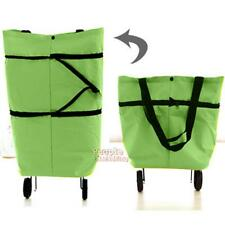Portable Foldable Shopping Trolley Cart Rolling Wheels Shoulder Tote Bag Handbag