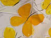 Vintage VERA 1970's Burlington  Full Fitted Sheet  Orange/Yellow Butterflies NEW
