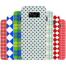 Dessana Checked Pattern TPU Silicone Protective Cover Phone Case For Samsung
