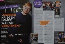 ED SHEERAN - 2 Seiten Bericht - Clippings Artikel Fan Sammlung NEU