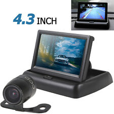 "420 TVL 18mm Lens Reverse Parking Camera + 4.3"" 2-ch Input Car Rear View Monitor"