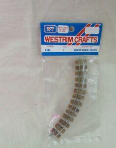 NIP Vintage WESTRIM WOOD TRAIN TRACK 1985 for Beaded Miniature Christmas Tree