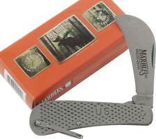 Marbles Stainless Hawkbill Folding Blade Pocket Knife MR409 Bail