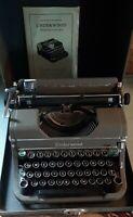 Vintage 1930s Underwood Champion Portable Typewriter Original Box Instructions
