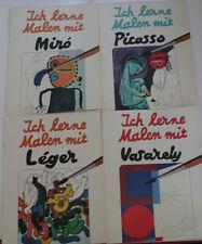 Ich lerne Malen mit Picasso, Miró, Léger, Vasarely Zeichenbuch Malbuch RARITÄT