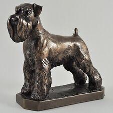 Schnauzer Cold Cast Bronze Figurine Sculpture Dog Lovers Gift David Geenty