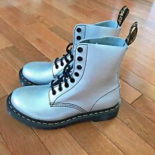Dr. Martens Women's Size 6 Pascal Alumix Combat Boot Silver Lace Up Rare New