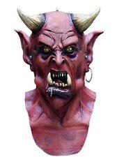 Uzzath Demon Devil Overhead Head & Chest Latex Halloween Fancy Dress Mask P7982