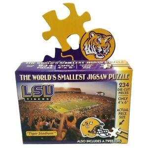 "NCAA LSU Tiger Stadium Football Worlds Smallest Jigsaw Puzzle 234 pcs 4""x 6"" TDC"