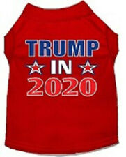 New listing Trump 2020 Screen-print Dog T-Shirt New cotton Red size x-small to 3Xl Unisex