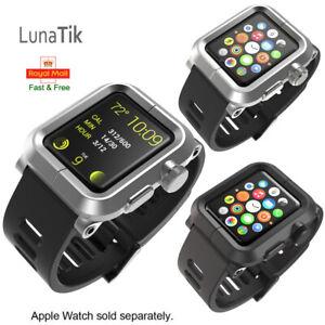 LunaTik EPIK Aluminium Case + Silicone Band for Apple Watch 42mm Silver Grey Kit