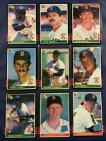 1985 Donruss BOSTON RED SOX Complete Team Set 23 ROGER CLEMENS RC WADE BOGGS
