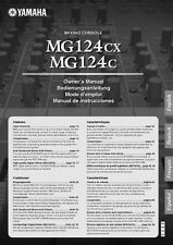 Yamaha MG-124-CX Mixing Console Owners Manual