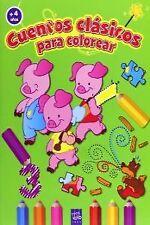 Cuentos clasicos colorear + 4 años. NUEVO. Nacional URGENTE/Internac. económico.
