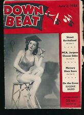 DOWN BEAT June 2, 1948 Jazz Magazine EUGENIE BAIRD Cheesecake Cover
