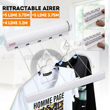 18M 5 Line Retractable Clothes Line Airer Indoor Dryer Washing Laundry