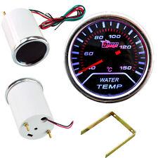 """Car Motor Smoke Tint Len 2"""" 52mm Indicator Water Temp Gauge Kit Meter YY"""