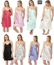 BH05151 LADIES 2 PACK BOTANICAL FLORAL//PINK SATIN CHEMISE NIGHTDRESS by BHS