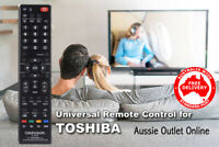 TOSHIBA Universal Smart TV Remote Control No Programming Needed - Aussie Outlet
