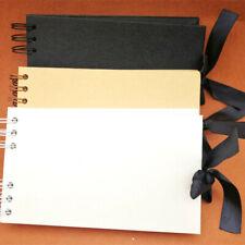 Kraft Ribbon Tie Scrapbook Photo DIY Album Display Book Bound 40 Pages