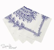 BLUE FLORAL PORCELAIN STYLE PAPER NAPKINS-Afternoon Tea Party-FULL RANGE IN SHOP