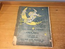 aNTIQUE Halloween Decoration Sheet Music 1875 THE WITCHES FLIGHT