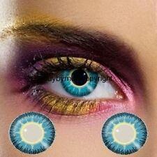 82272 lentille de couleur BLEU jaune fusion lens blue yellow contact us fashion