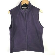 Columbia Fleece Vest Medium Womens Purple Zipper Front Pockets Sleeveless Fall M