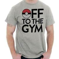 Off To The Gym Go Gamer Funny Nerd Geek Gift Short Sleeve T-Shirt Tees Tshirts