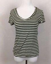 BANANA REPUBLIC Women's Petite size XS green layered shirt linen blend