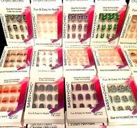 12 Acrylic Fashion Nails Glittery Turquoise Pink Blue Mandalas Sassy+Chic Gift