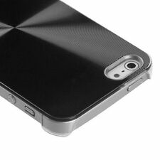 For iPhone 5 5S SE METAL Cosmo HARD Protector Case Snap On Phone Cover Black