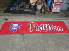 Philadelphia Phillies Banner 8x2 Ft Flag Man Cave Decor Gift MLB Baseball Sports