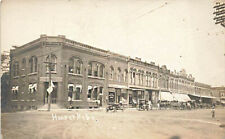 Hooper NE Post Office Bank and Other Storefronts Horse & Wagons RPPC