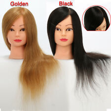 Salon 100% Human Hair Training Head Hairdressing Styling Mannequin Dolls Heads