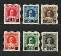 s33266 VATICAN 1934 MXLH Provvisoria 6v signed + guarantee postmarks